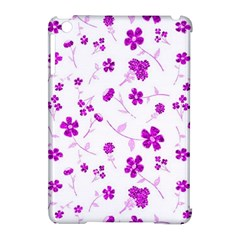 Sweet Shiny Floral Pink Apple iPad Mini Hardshell Case (Compatible with Smart Cover) by ImpressiveMoments