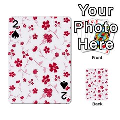 Sweet Shiny Floral Red Playing Cards 54 Designs  by ImpressiveMoments