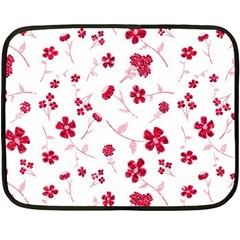 Sweet Shiny Floral Red Fleece Blanket (mini) by ImpressiveMoments