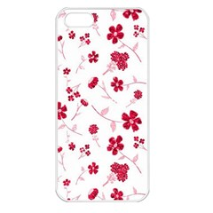 Sweet Shiny Floral Red Apple Iphone 5 Seamless Case (white) by ImpressiveMoments