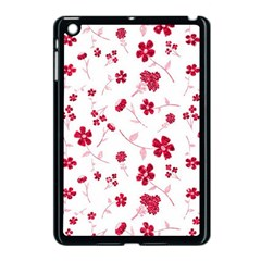 Sweet Shiny Floral Red Apple Ipad Mini Case (black) by ImpressiveMoments