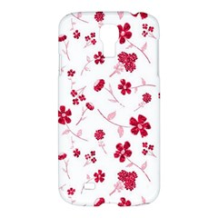Sweet Shiny Floral Red Samsung Galaxy S4 I9500/i9505 Hardshell Case by ImpressiveMoments