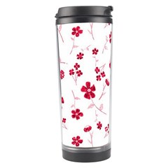 Sweet Shiny Floral Red Travel Tumblers by ImpressiveMoments