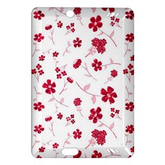 Sweet Shiny Floral Red Kindle Fire Hd (2013) Hardshell Case by ImpressiveMoments