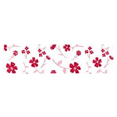 Sweet Shiny Floral Red Satin Scarf (oblong) by ImpressiveMoments