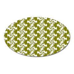 Candy Illustration Pattern Oval Magnet by creativemom
