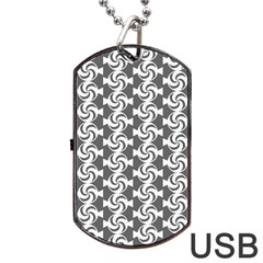 Candy Illustration Pattern Dog Tag USB Flash (Two Sides)  by creativemom
