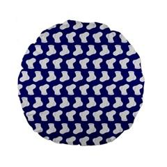 Cute Baby Socks Illustration Pattern Standard 15  Premium Flano Round Cushions by creativemom