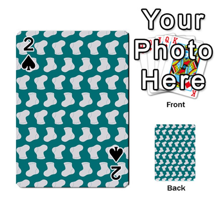 Cute Baby Socks Illustration Pattern Playing Cards 54 Designs