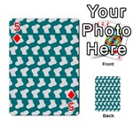 Cute Baby Socks Illustration Pattern Playing Cards 54 Designs  Front - Diamond5