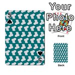 Cute Baby Socks Illustration Pattern Playing Cards 54 Designs  Front - Spade5