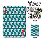 Cute Baby Socks Illustration Pattern Playing Cards 54 Designs  Front - Diamond6
