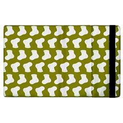 Cute Baby Socks Illustration Pattern Apple Ipad 3/4 Flip Case by creativemom