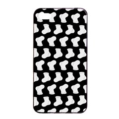 Black And White Cute Baby Socks Illustration Pattern Apple Iphone 4/4s Seamless Case (black) by creativemom