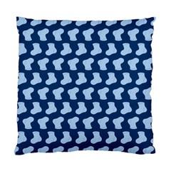 Blue Cute Baby Socks Illustration Pattern Standard Cushion Case (one Side)  by creativemom