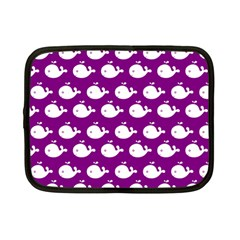 Cute Whale Illustration Pattern Netbook Case (small)  by creativemom