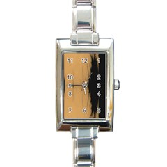 Sunset Black Rectangle Italian Charm Watches