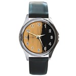 Sunset Black Round Metal Watches