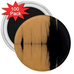 Sunset Black 3  Magnets (100 pack)