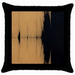 Sunset Black Throw Pillow Cases (Black)