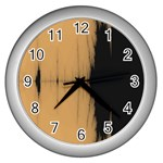 Sunset Black Wall Clocks (Silver)