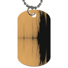 Sunset Black Dog Tag (two Sides) by digitaldivadesigns