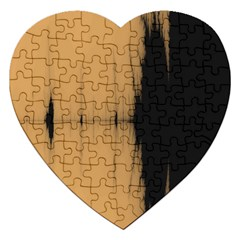 Sunset Black Jigsaw Puzzle (heart) by theunrulyartist