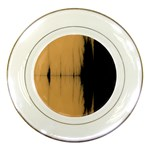 Sunset Black Porcelain Plates