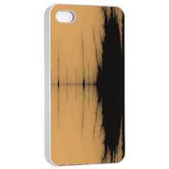 Sunset Black Apple Iphone 4/4s Seamless Case (white) by theunrulyartist