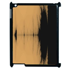 Sunset Black Apple Ipad 2 Case (black) by theunrulyartist