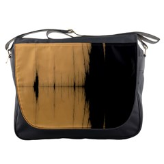 Sunset Black Messenger Bags by theunrulyartist