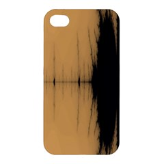 Sunset Black Apple Iphone 4/4s Premium Hardshell Case by theunrulyartist