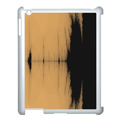 Sunset Black Apple Ipad 3/4 Case (white) by theunrulyartist
