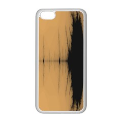 Sunset Black Apple Iphone 5c Seamless Case (white) by theunrulyartist