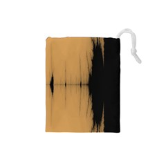 Sunset Black Drawstring Pouches (small)  by theunrulyartist