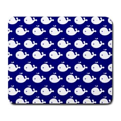 Cute Whale Illustration Pattern Large Mousepads by creativemom