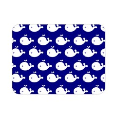 Cute Whale Illustration Pattern Double Sided Flano Blanket (mini)  by creativemom