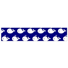 Cute Whale Illustration Pattern Flano Scarf (small)  by creativemom