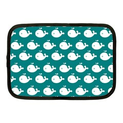 Cute Whale Illustration Pattern Netbook Case (medium)  by creativemom