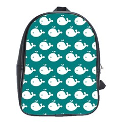 Cute Whale Illustration Pattern School Bags (XL)