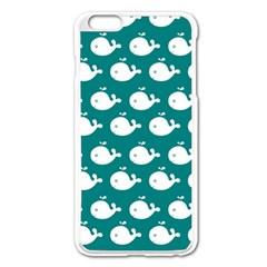 Cute Whale Illustration Pattern Apple iPhone 6 Plus Enamel White Case