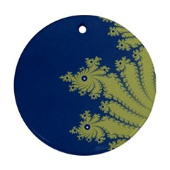 Blue And Green Design Ornament (round)  by theunrulyartist