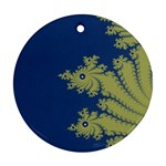 Blue and Green Design Ornament (Round)