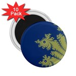 Blue and Green Design 2.25  Magnets (10 pack)