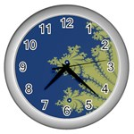 Blue and Green Design Wall Clocks (Silver)