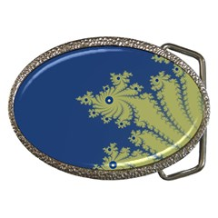 Blue And Green Design Belt Buckles by theunrulyartist