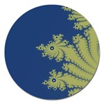 Blue and Green Design Magnet 5  (Round)