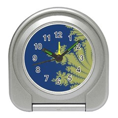 Blue And Green Design Travel Alarm Clocks by theunrulyartist