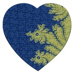 Blue and Green Design Jigsaw Puzzle (Heart)