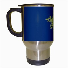 Blue And Green Design Travel Mugs (white) by theunrulyartist